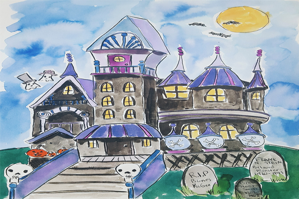 Halloween Spooky House Drawing.Haunted Houses Drawing Class An Unlikely Story Bookstore